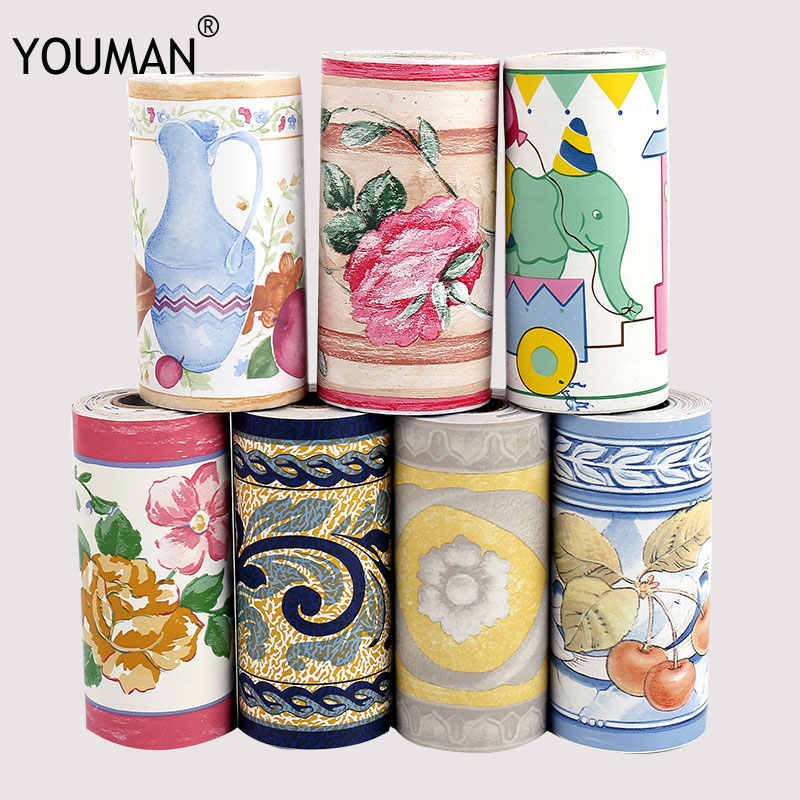 YOUMAN DIY Self Adhesive Wallpaper Border Waterproof 10M Bathroom 3d Wall Vinyl PVC Stickers Roll Waistline.jpg q50