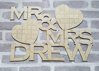 Personalized Rustic Jigsaw Mr Mrs Wedding Day Guest Books Alternative Hearts Wooden Guestbooks Reception Party Favors