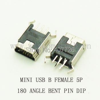 10 sztuk Mini USB 2 0 Cnnector typu B 5Pin DIP 180 kąt zagięte nóżki gniazdo USB DIP Micro USB złącze wtykowe tanie i dobre opinie CN (pochodzenie) USB 180 Angle Bent Feet Lighting PCB audio vedio ect