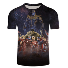 Marvel Avengers 3 Thanos 3d Compression Short Sleeve T-Shirt Men New Fashion Summer Men T Shirt Funny Fitness Shirt Tops & Tees