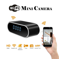 Mini Wifi Camera HD 1080P Wireless Alarm Video Micro Camcorder Digital Table Clock Recorder With Infrared Night Vision Function