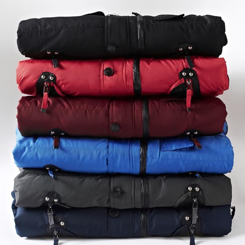 Red Vêtements Mode gris Wine Avec navy Mâle Marque bleu Poches Zipper Qualité Hiver Épaississement noir Manteau Haute rouge Manteaux Hommes Parka Parkas qExZRwaI