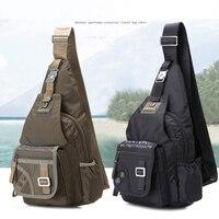 Top Quality Nylon Men Single Knapsack Rucksack Messenger Chest Bags Fashion Military Travel Male One Shoulder Daypack Backpack