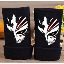 2019 Anime Bleach Cotton Glove Fingerless Cartoon Kurosaki ichigo Figure Print Gloves Mitten Unisex Cosplay Gift Winter Warm
