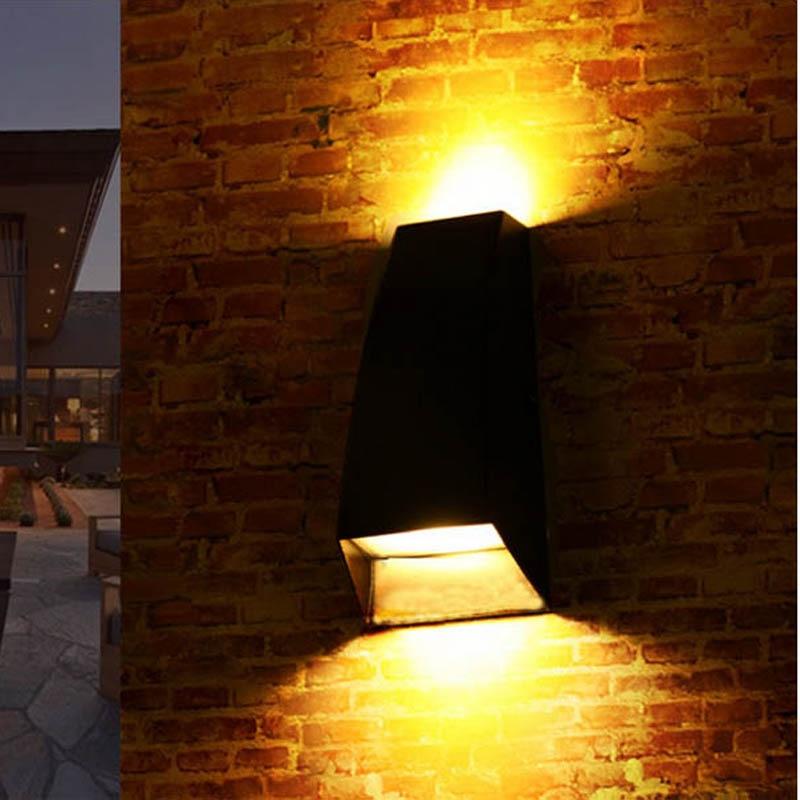 Jiawen 6W 10W Villa corridor wall lights Outdoor waterproof LED wall lamp ,Up and Down Lighting(AC85-265V)