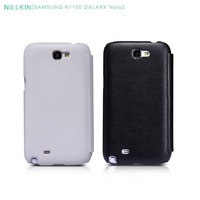 Leather Wallet Case For Samsung Note 2 Nillkin PU Leather Flip Phone Case For Samsung Galaxy