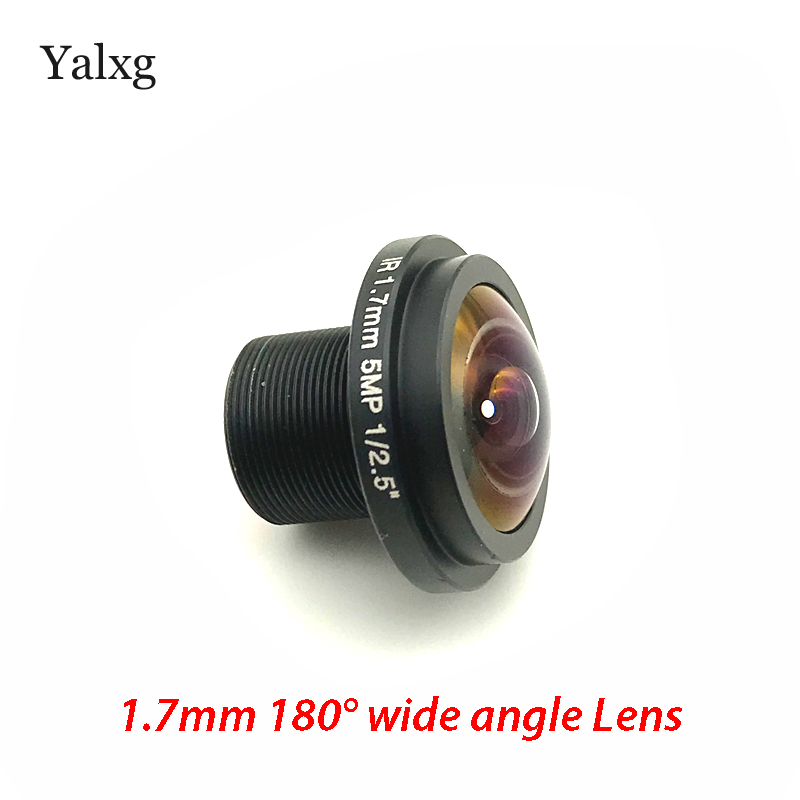 HD IR 1.7mm 5 Megapixel 1/2.5 Inch Panorama FishEye Lens 180 Degree Wide Angle Lens For CCTV IP Camera And Panoramic Camera 5megapixel 1 7mm fisheye lens for hd cctv ip camera m12 mount 1 2 5 f2 0 compatible wide angle panoramic cctv lens