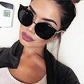 Revestimento da Senhora Da forma Do Olho de Gato Do Vintage Óculos De Marca de Grandes Dimensões de Luxo Designer Mulheres Óculos de Sol ou óculos de Sol anti-UV Óculos de sol d