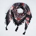 2017 hot venda nova moda mulher Lenço quadrado lenços borla Impresso Mulheres Wraps outono Inverno senhoras xailes frete grátis 003