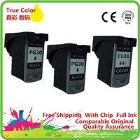 Cartucho de tinta Remanufaturados Para Canon PG PG-30XL CL-31XL 30XL CL 31XL PG30XL CL31XL Pixma IP 1800 2600 MP 140 210 470 MX 300