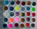New 30pcs Mix Color Nail Gel Shimmering Powder Nail Art Builder Glitter UV Gel