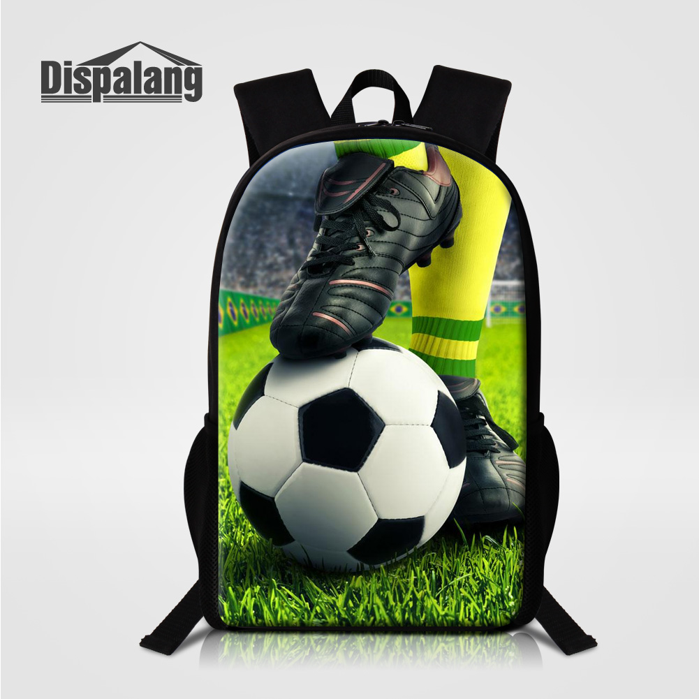 Dispalang Men New Fashion Backpack Soccers Printing School Bag For Teenagers Boys Children 16 Inch Shoulder Bags Mochila Escolar anime pokemon backpack bag for teenagers boys girls school bags pikachu backpack children shoulder bags mochila bolsas escolar