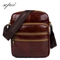 SCPEE Men S Leather Bags Men S New Diagonal Shoulder Bags Men S Small Business Bags