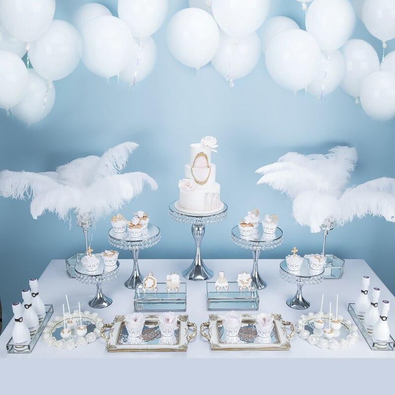 Zilveren Europese bruiloft dessert display ornamenten cake plank cake tray dessert inventaris hart plaat fruitschaal - 2
