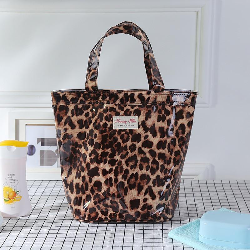 2019 сумка для вещей, Хлопковая сумка для покупок, Женский органайзер, вместительная эко-сумка для студентов, сумки для хранения с милым леопа...