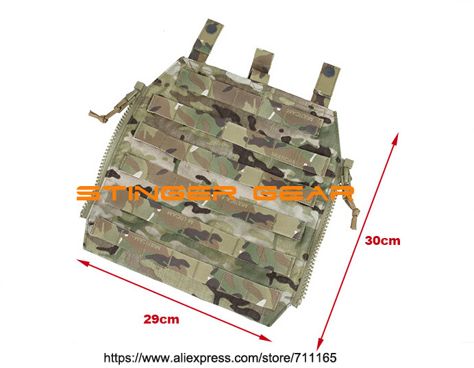 TMC 7 MOLLE Zip On Panel Multicam Built-in Hydration Pocket Panel+Free shipping(SKU12050849)