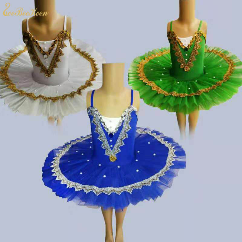 2018 New Women Ballet Dress Tutu Dance Dress For Girls Pancake Swan Lake Ballet Bailarina Ballerina Kids Performance Costume