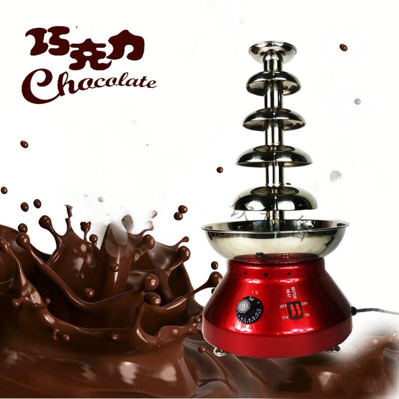 Chocolat créatif buffet niveau 6 acier inoxydable fontaine machine chocolat cascade machine chauffage hôtel partie commerciale