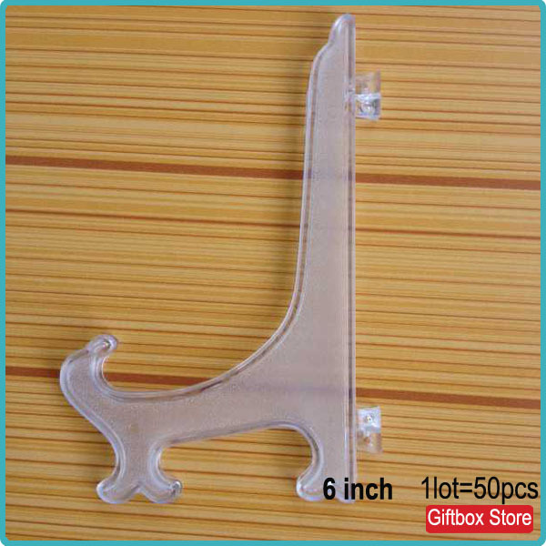 (50pcs/lot) Modern Plate Display Stand Plastic Easel Clear Photo Picture Card Tile Holder Rack-in Storage Holders u0026 Racks from Home u0026 Garden on ...  sc 1 st  AliExpress.com & 50pcs/lot) Modern Plate Display Stand Plastic Easel Clear Photo ...