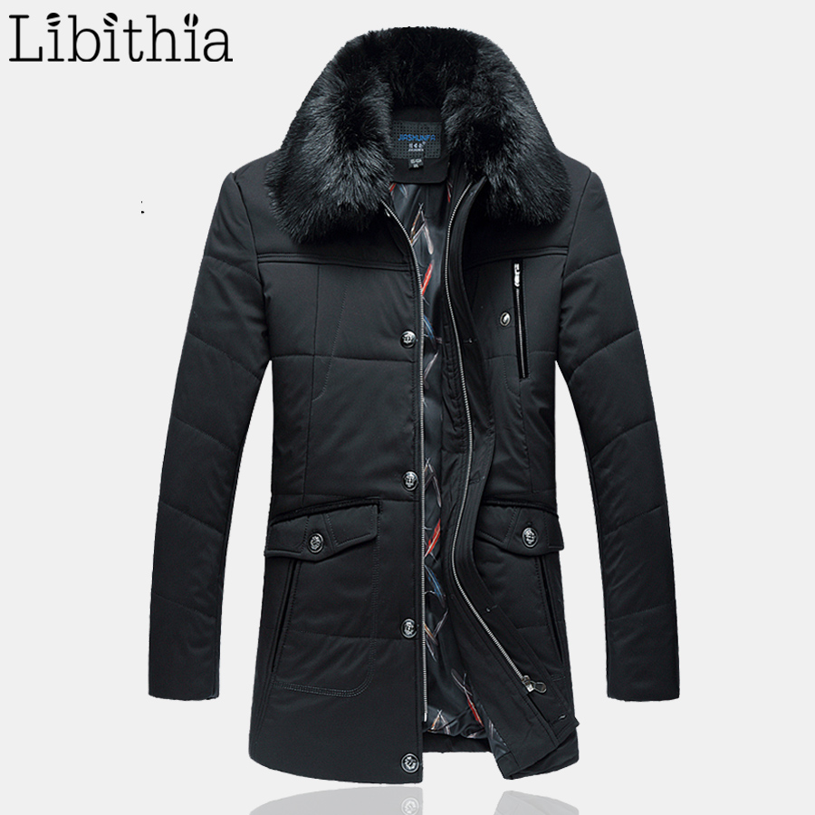 Men's Casual Thick Parka Plus Size 6XL Long Style Loose Coats With Fur Collar Zipper Warm Winter Jacket Men Green Navy Blue K259 e artist men s long winter jacket velvet padded jackets trench coats parka thick fit casual outdoor black wine plus size 5xl a65
