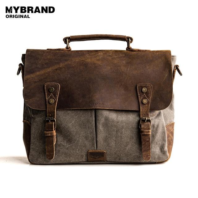 349484c48 MYBRANDORIGINAL bolsa de mensajero de lona de los hombres bolsos vintage bolsos  carteras de cuero bolsas