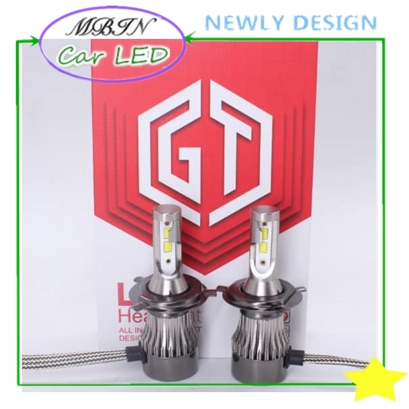 Newly MBIN K3S Hi/lo beam H4 40W 6000k 6000LM 12v car led headlight kit vehicle front head driving bulb HID replacement