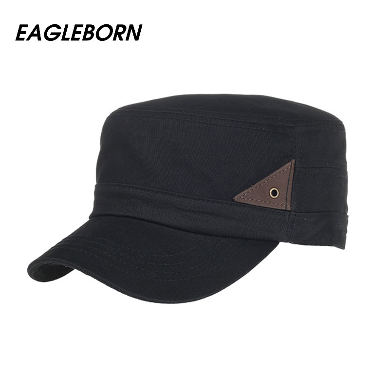 955eecc02ca25f [Eagleborn] 2019 New 100% Cotton Classic Men Women Vintage Army Hat Cadet  Military