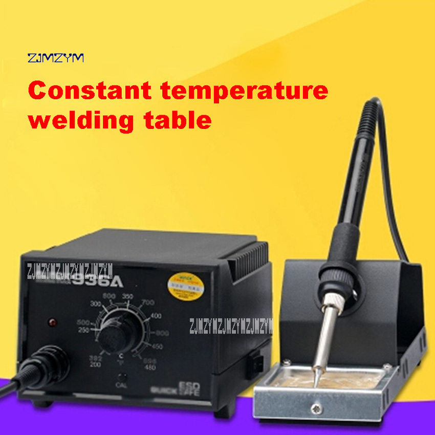 936A Soldering Stations Electric Iron Welding Station Adjustable Temperature Soldering Station 220V 60W 200-480 Degrees Hot Sale yihua 878a 700w soldering stations portable handheld temperature controlled air soldering station welding tool