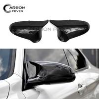 Углерода заднего вида Крыло зеркала Кепки для BMW M3 M4 f80 f82 f83 2014 в авто замена зеркала охватывает
