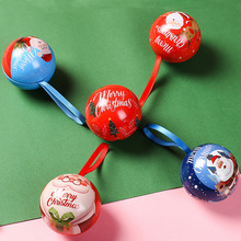 Christmas candy box small gift of christmas tree decorations tin and spherical shape childrens boxes packaging
