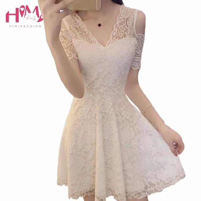 Collar para vestido blanco corto