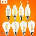 Bombilla LED E27 Retro Lámparas 220 V 240 V LLEVÓ la Luz del Filamento E14 Bola de cristal Edison Bombillas Bombilla LED Candle Light 2 W 4 W 6 W 8 W