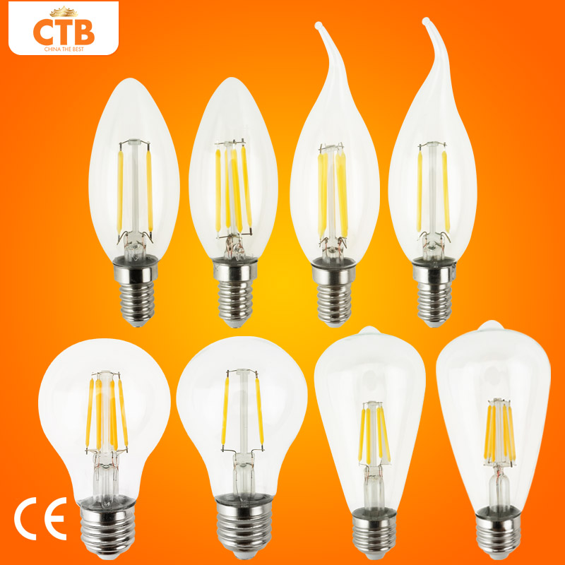 Led bulb e27 retro lamps 220v 240v led filament light e14 glass ball bombillas led bulb