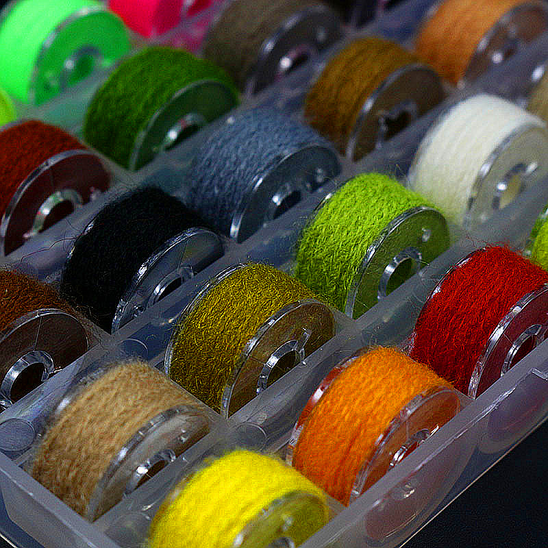 Royal Sissi 1box 25colors assortert mikrofiber garn midges nymfer - Fiske - Bilde 3