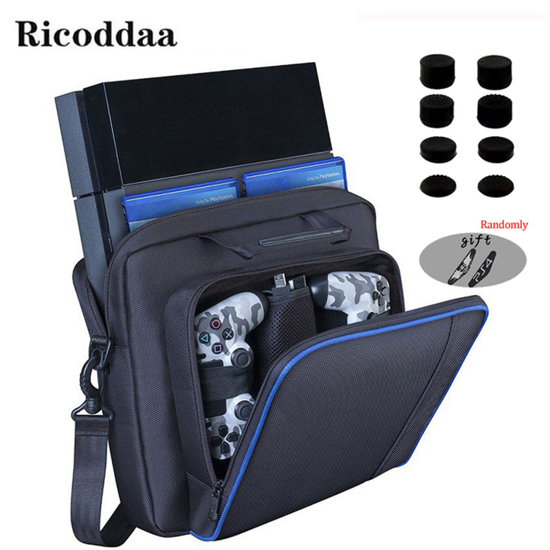 For PS4 Game Sytem Bag Canvas Carry Bags Case Protective Shoulder For PlayStation 4 PS4 Console Travel Storage Carry Handbag