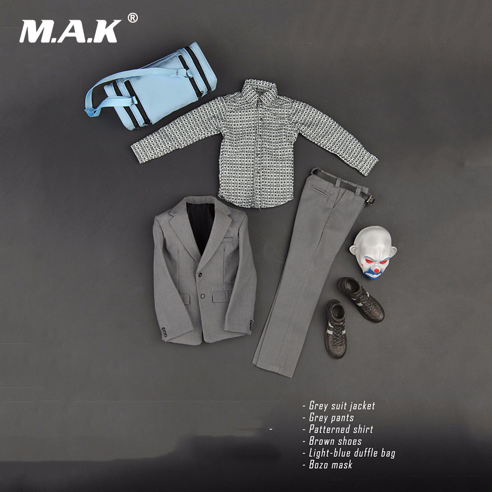 1/6 Scale Batman The Joker Bank Robber Version Suits Clothes For 12 Male Action Figure 1 6 scale figure doll clothes male batman joker suit for 12 action figure doll accessories not include doll and other 1584