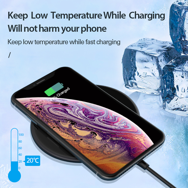 Coolreall 15W Qi Wireless Charger for Samsung S9 S10 iPhone X XS MAX XR 8 Plus for Xiaomi 9 Huawei P30 pro 10W Wireless Charging 2