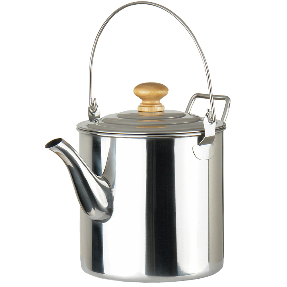 Out-D 2000ml Stainless Steel Kettle Water Pot Portable Coffee  Outdoor Tea for Travel Camping Backpacking