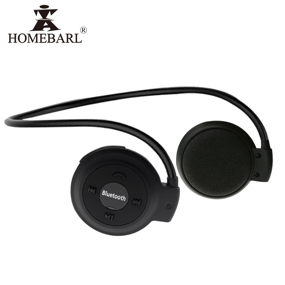 HOMEBARL 3D Mini 503 Mini503 Bluetooth 4.2 FM Headset Sport Wireless Headphones Music Stereo Earphones + 8GB 16GB Micro SD Card