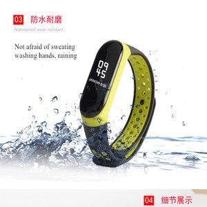 Image 4 - Armband mi Band 3 4 strap sport Silikon für Xiao mi mi band 3 4 strap uhr handgelenk mi band 3 4 zubehör mi band3 armband smart