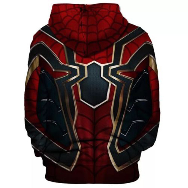 32e5c06d5 Iron Spider-Man Hoodie Avengers Infinity War Spiderman Sweater Coat Jacket
