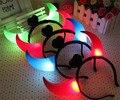 15 unids/lote LED Parpadeante Cuernos de Buey Luz Juguetes Resplandor de Neón Del Pelo Headwear accesorios Para El Partido de Navidad Suministros Juguetes de Regalo de Vacaciones