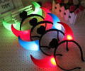 15pcs/lot LED Flashing Ox Horns Light Headwear Toys Neon Glow Hair accessories For Party Christmas Holiday Supplies Toys Gift
