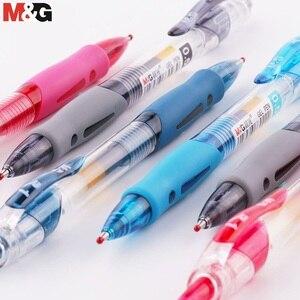 Image 5 - M & G China S Nummer 1 Intrekbare Gel Pen 0.5 Mm Andstal Zwart Blauw Rood Gel Inkt Refill Gelpen school Kantoorbenodigdheden Stationaire Pennen