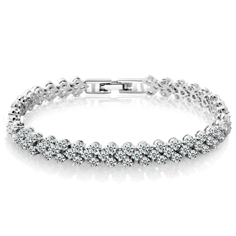 Roman personality women zirconcrystal bracelet exquisite luxury fashion jewelry S099