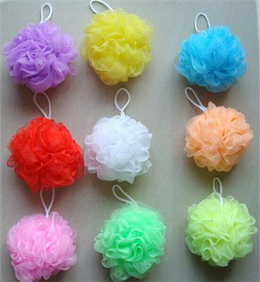 Multicolour bath ball bathsite bath tubs Cool ball bath towel scrubber Body cleaning Mesh Shower wash Sponge Sanitary Ware Suite