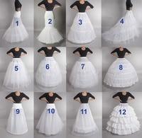 Hot Sell Many Styles Bridal Wedding Petticoat Hoop Crinoline Prom Underskirt Fancy Skirt Slip 1