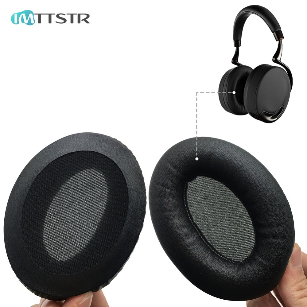Black Replacement Ear Cushion Pads Ear Cover Pillow Foam Earmuffs for Parrot ZIK 1.0 by Philippe Headphones Headset Repair Parts