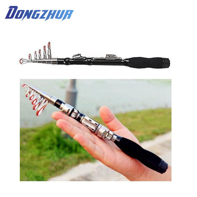 Best Price Mini Fishing Rod Telescopic Portable Fishing ultralight Rod Spinning Carbon Hand Fishing Tackle Sea Rod Fishing Pole 1.0m-2.3m