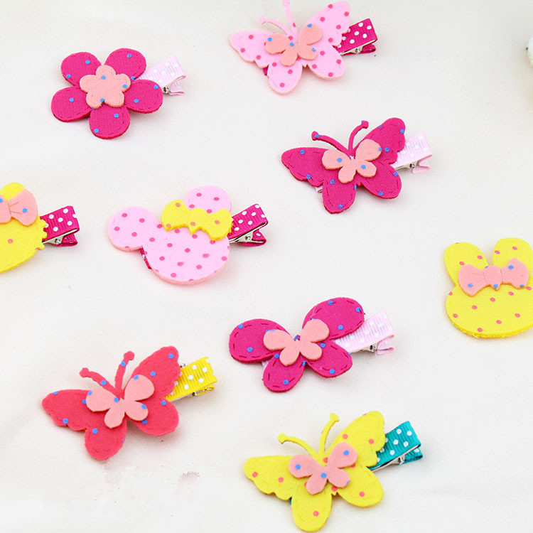 1Pcs Girl Hair Clip  Fabric Flower Hairpin Child Hairpin DIY Cute Style Girl Hair Accessories halloween party zombie skull skeleton hand bone claw hairpin punk hair clip for women girl hair accessories headwear 1 pcs